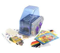 crayola crayon maker with 3 coloring books crayons qvc