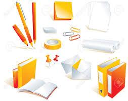 fourniture de bureau papeterie papeterie les éléments de fourniture de bureau les objets isolés