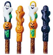 Halloween Decorated Pretzel Rods by Halloween Pretzel Candy Mold Wilton
