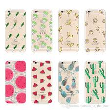 Fashion Floral Print TPU Clear Transparent For Apple Iphone 6 5s