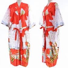 robe de chambre soie kimono japonais 70 soie robe de chambre peignoir akemi la