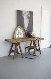 Recycled Wooden Saw Horse Console Table