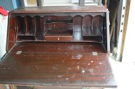 Drop Front Secretary Desk Antique by Governor Winthrop Serpentine Drop Front Desk Meets Old Fashioned