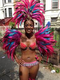 Hundreds Of Revelers In Colorful Costumes Are Taking Part The West Indian Day Parade On