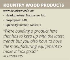 Kountry Cabinets Home Furnishings Nappanee In by Kountry Wood Products Manufacturing Today