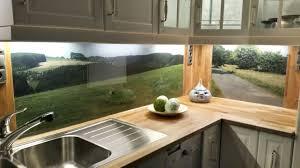 küchenrückwand aus esg glas mit eigenem motiv glasrückwand