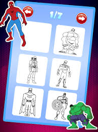 Superhero Coloring Book Pages Kids Games Screenshot Thumbnail