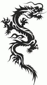 Dragon Tribal Tattoo Clipart