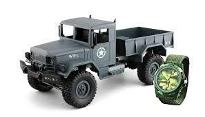 100 4x4 Rc Truck USMilitary Grey Plus Watch RCModell 116 Heng Long