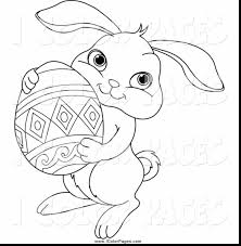 Remarkable Cute Easter Bunny Coloring Pages With Page And Free Printable