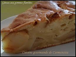 recette cuisine gourmande recette gâteau aux pommes flambées gourmand 750g