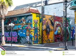 Balmy Alley Murals Mission District by Murals In San Francisco Editorial Photo Image 52775056