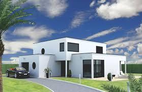 maison en cube moderne maison cube contemporaine sur mesure perpective constrution 76