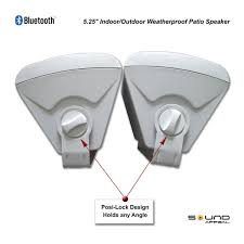 Bluetooth outdoor speakers for patio or pool with long range
