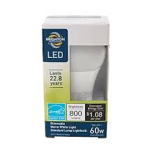 brighton professional trade 60w equiv led dimmable light bulb