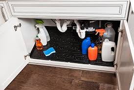 Under Sink Mat Drip Tray by Coolest 22 Under Sink Organizers Heap Home Products