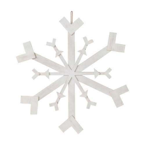 Sullivans Snowflake Wall Decor, White