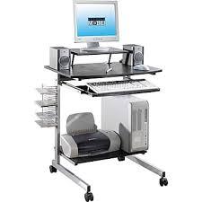 Techni Mobili Desk W Retractable Table by Techni Mobili Space Saving Computer Desk Espresso Staples