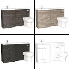 L Shaped Bathroom Vanity Unit by Bathroom Storage Wall Hung Vanity Unit Cloakroom Cabinet Dropdown