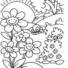 Free Spring Coloring Pages Page 1 In