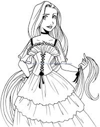 Baby Disney Princess Coloring Pages Ba Printable Nekoma Rapunzel