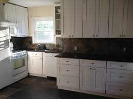 White Cabinets Dark Countertop What Color Backsplash by My Dream Kitchen Is Completed Aspen White Shaker Cabinets Black