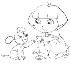 Download Coloring Pages Dora Page Free Online