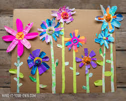 Collage Paper Flower Garden With Make It Your Own Creative