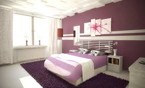 White Purple Master Bedroom Interior Decorating Ideas With Soft Bedding And Dark Rug