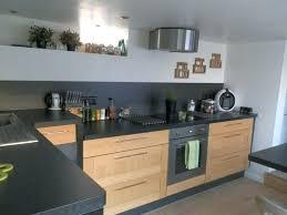 cuisine grise plan de travail bois cuisine bois et gris cuisine orange et grise 21 cuisine cuisine