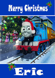 Thomas The Tank Engine Bedroom Decor by Personalised Thomas The Tank Engine Christmas Card 1
