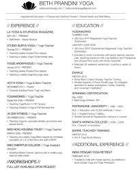 Free Sample Yoga Teacher Resume Template In Word Format