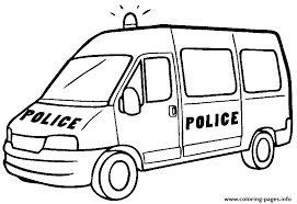 Big Police Car Coloring Pages Printable