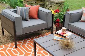 Cast Aluminum Patio Furniture With Sunbrella Cushions by Aura Cast Aluminum Patio Furniture Conversation Set With A Modern
