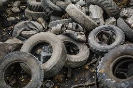 100 Used Truck Tires Heap Of Old Car Junk Rubbish Wheels Industrial