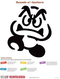 Mario Pumpkin Stencil by Goomba Printable Pumpkin Carving Stencil Play Nintendo