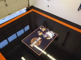 atlantic coast concrete harley davidson logo epoxy garage floor