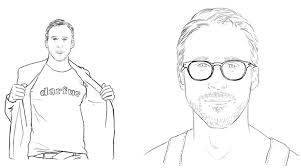 Ryan Gosling Coloring Pages