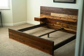 wood king bed frame reclaimed wood king bed plan ideas reclaimed