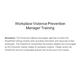 Kentucky Personnel Cabinet Grievance by Workplace Violence Prevention Manager Training Ppt Download