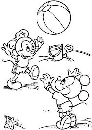 Disney Summer Coloring Pages For Kids