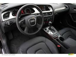 Black Interior 2009 Audi A4 3 2 quattro Sedan