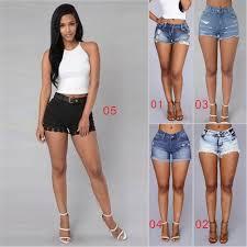 women ladies fashion slim skinny short jeans denim shorts