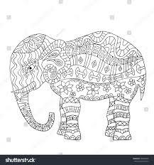 Elegant Elephant Coloring Book