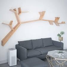chicti baum wandregal massivholz schweberegale wohnzimmer