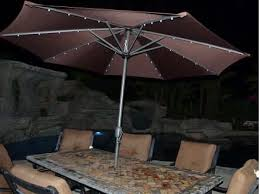 Solar Lighted Patio Umbrella by Solar Market Patio Umbrella Coffee 9 U0027quality Patio Umbrellas