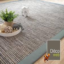 tapis coton tisse a plat tapis tissé plat bornéo silver ganse coton vert de gris 160 x