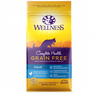 Wellness Natural Complete Health Grain Free Dry Deboned Chicken and Chicken Cat Food - 5.5lb