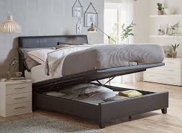 Super King Size Ottoman Bed by Francis Black Faux Leather Ottoman Bed Frame Dreams
