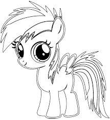 My Little Pony Coloring Pages Young Rainbow Dash 2513220